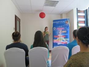 Sahaja Yoga Tahiti au salon de la Femme et de l'Enfant au Tahiti Pearl BeachResort