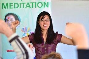 Une yogini de Nouvelle-Zélande nous rend visite enavril